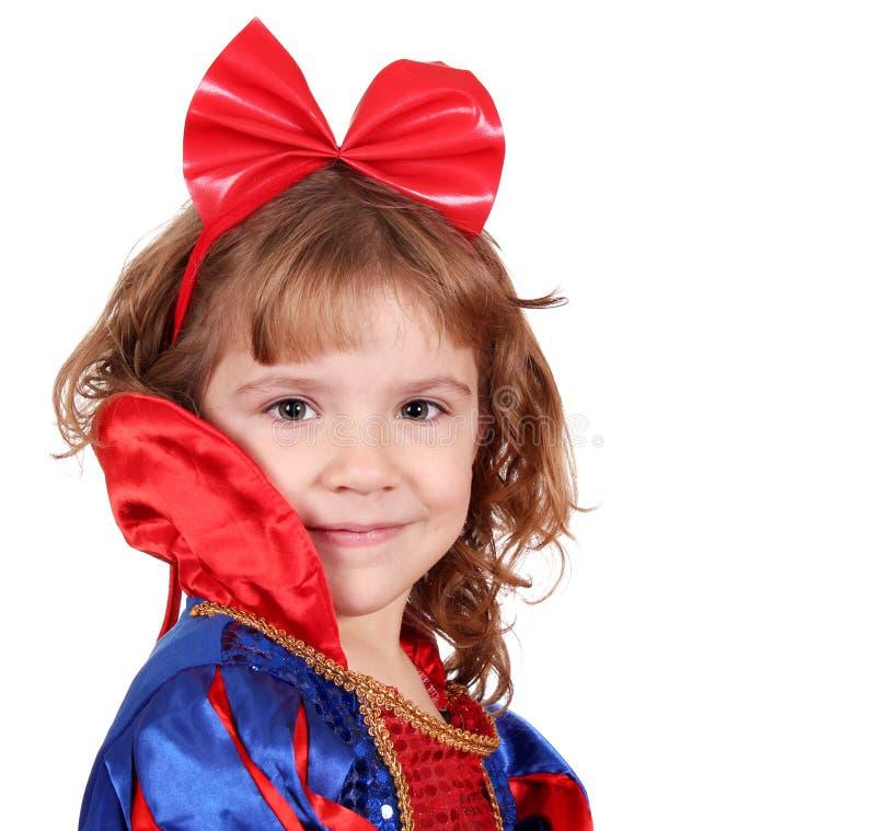秀丽女孩小公主 免版税库存照片