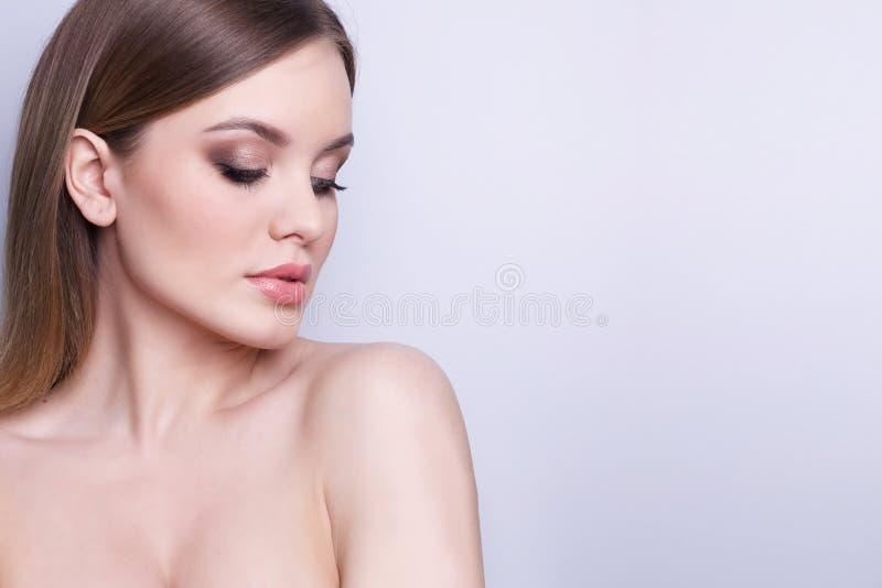 秀丽时装模特儿妇女,画象 免版税图库摄影