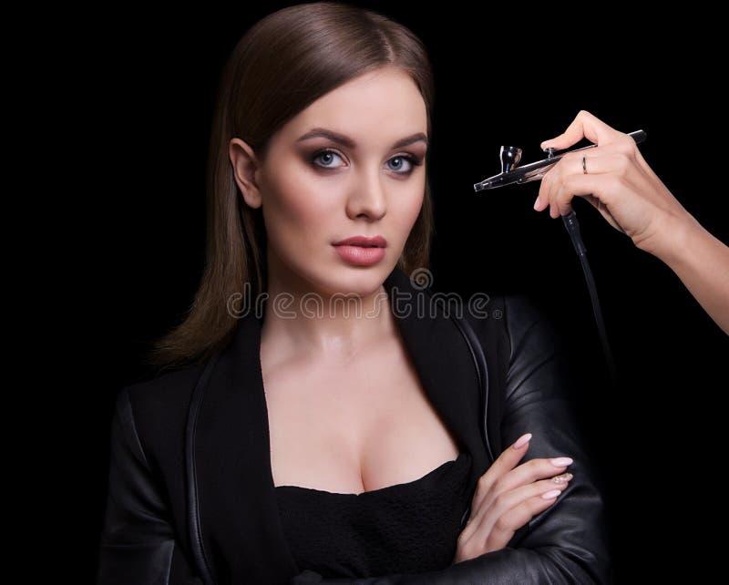 秀丽时装模特儿妇女,画象 库存照片
