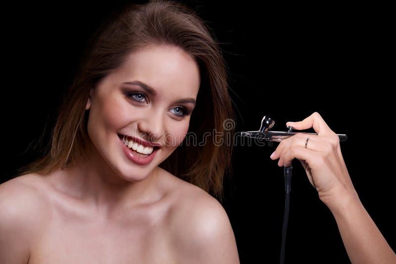 秀丽时装模特儿妇女,画象 免版税库存图片