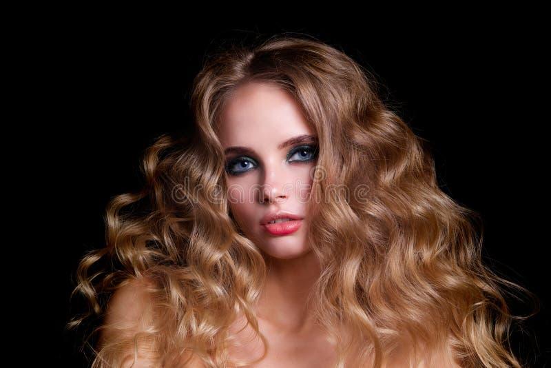 秀丽时装模特儿妇女,画象 库存图片
