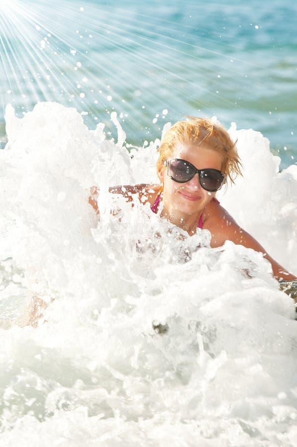 秀丽海运妇女 免版税库存图片