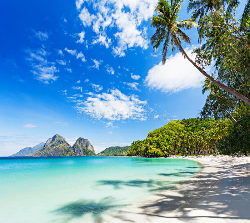 秀丽海滩 库存照片