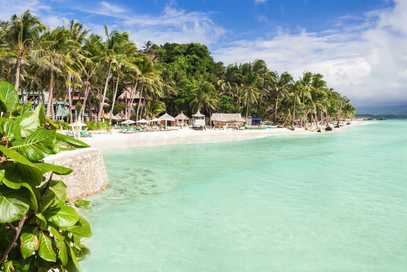 秀丽海滩 免版税库存照片