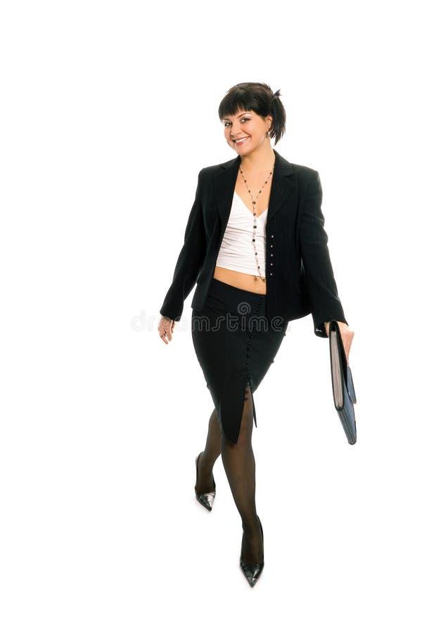 秀丽深色的企业夫人 免版税库存照片