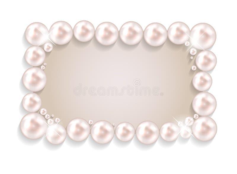 秀丽珍珠框架背景传染媒介例证 皇族释放例证