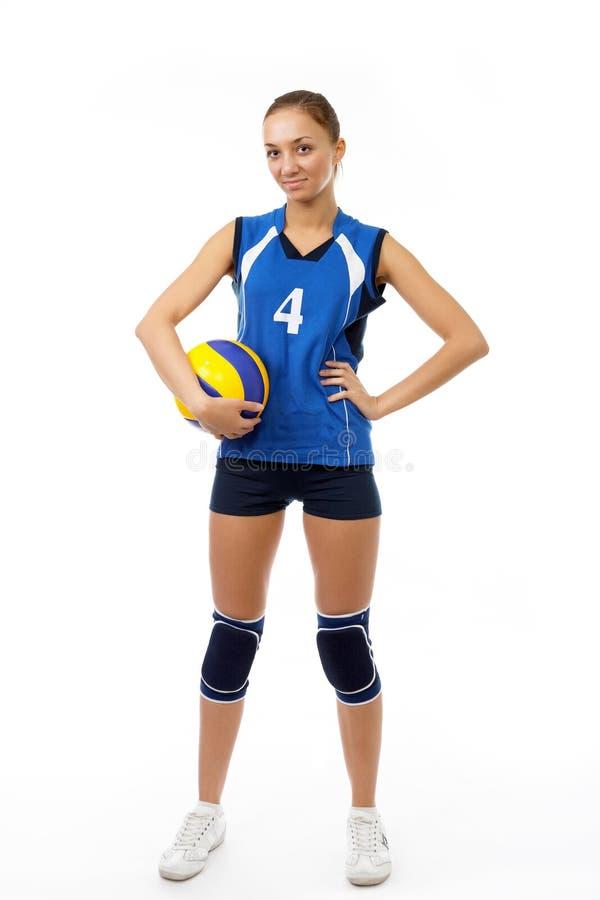 秀丽球员排球年轻人 库存照片