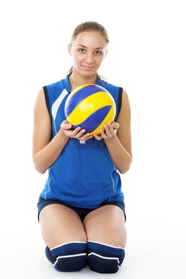 秀丽球员排球年轻人 图库摄影