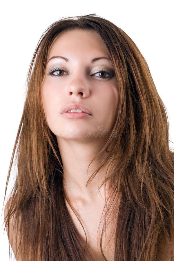 秀丽纵向妇女年轻人 免版税库存图片