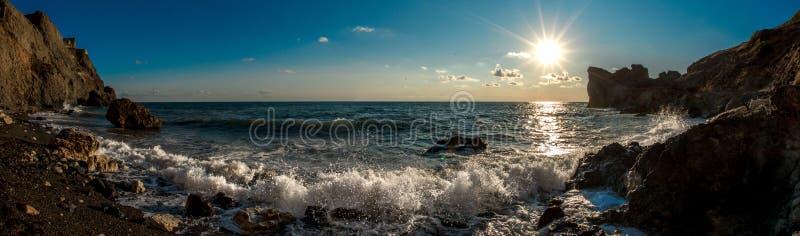 秀丽自然海andscape克里米亚 免版税库存图片