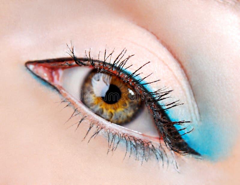 秀丽蓝眼睛眼影膏 图库摄影