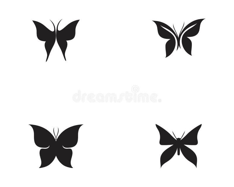秀丽蝴蝶象设计 皇族释放例证
