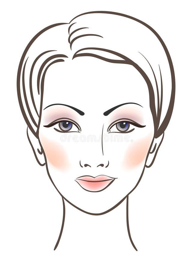 秀丽表面构成妇女 向量例证