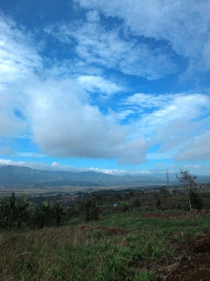 秀丽视图我的村庄majalengka 库存图片