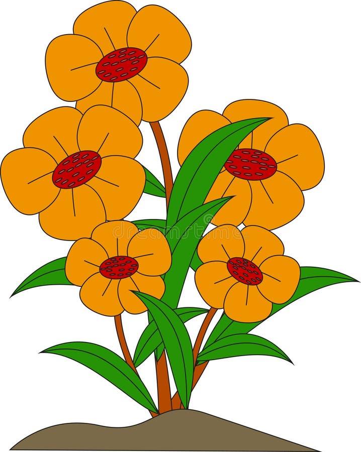秀丽黄色花的 向量例证