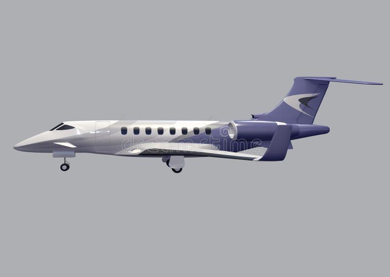 私人喷气式飞机概念 皇族释放例证