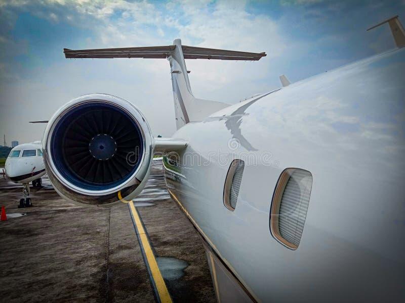 私人喷气式飞机 免版税图库摄影