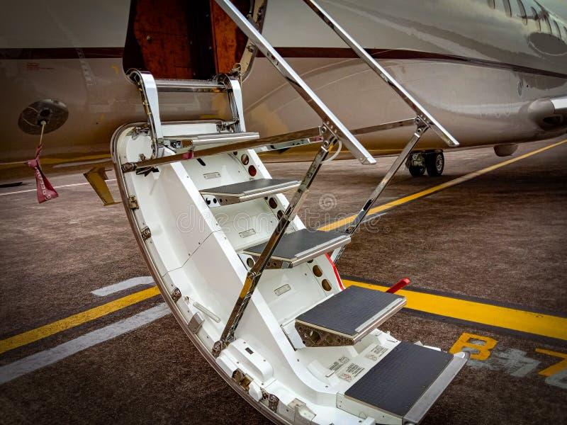 私人喷气式飞机 图库摄影