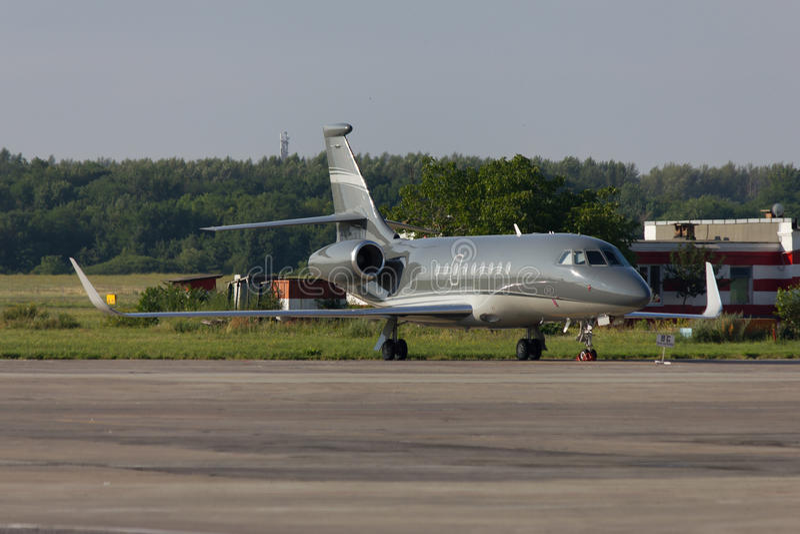 私人飞机猎鹰 库存照片