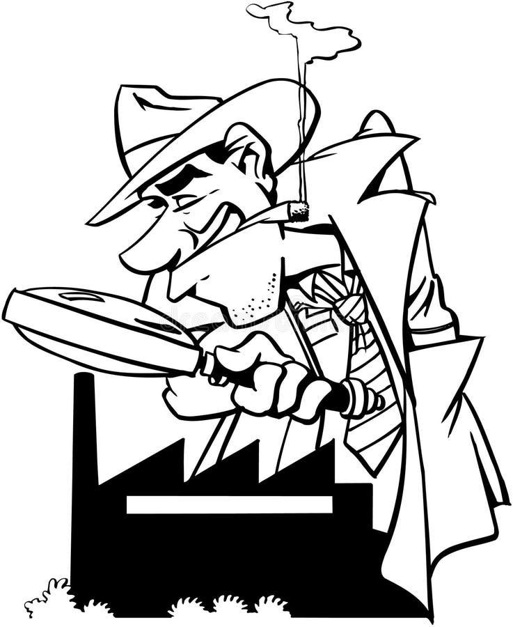 私家侦探大猎犬设计传染媒介Clipart 库存例证