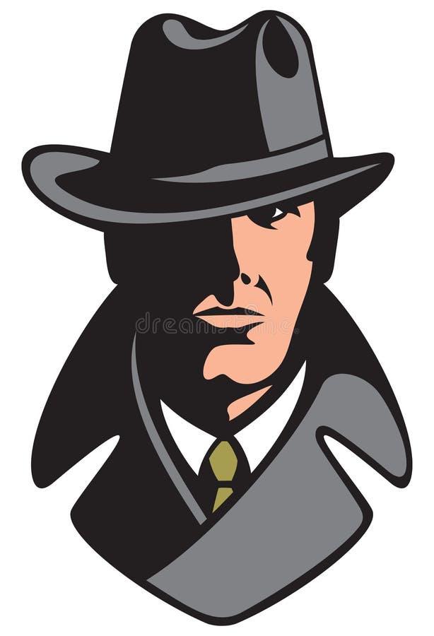 私家侦探 向量例证