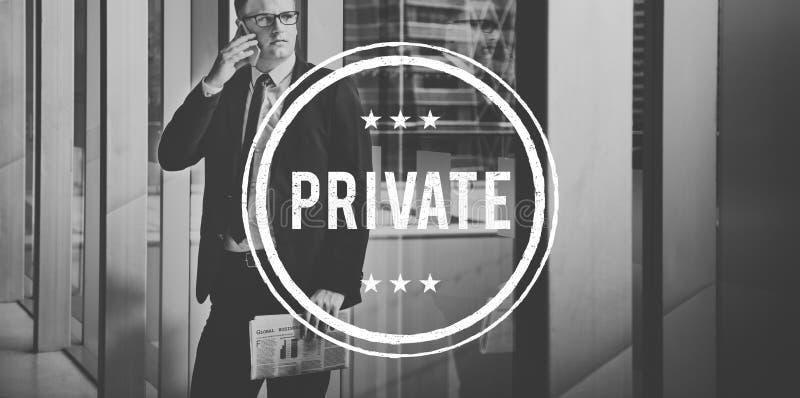 私有保密性有限的秘密机要可信任的概念 库存照片