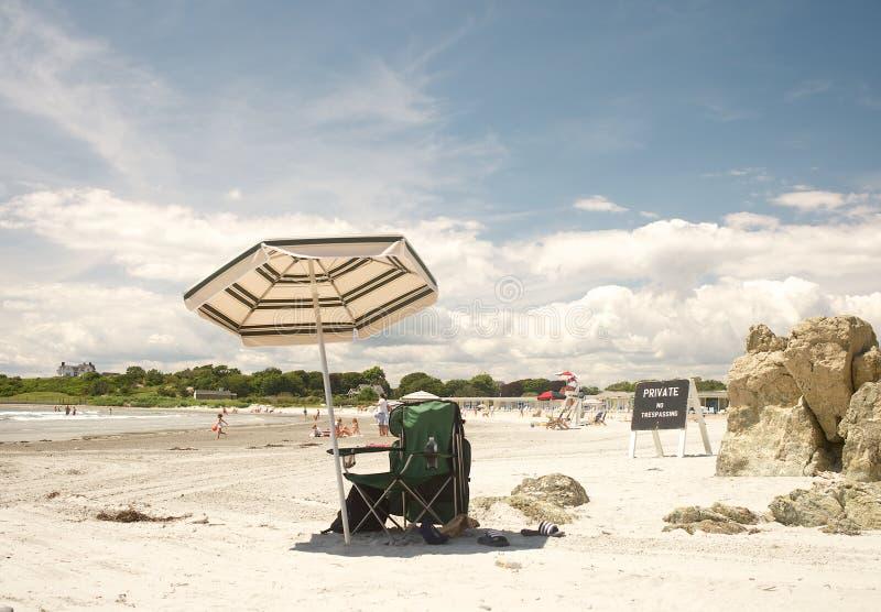 私有海滩看门人 图库摄影