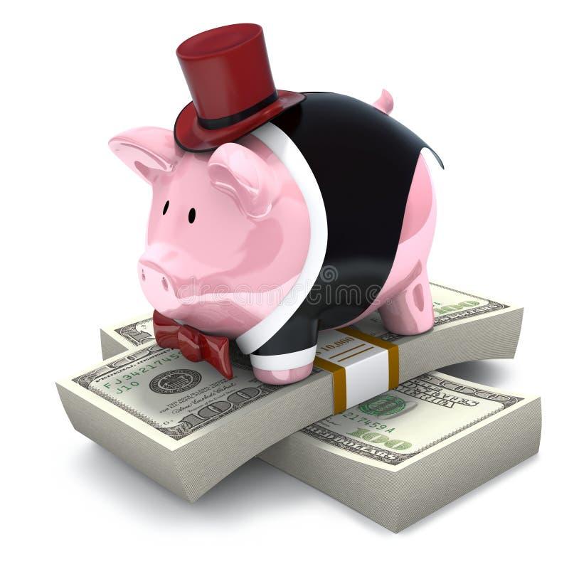 私有的银行家 库存例证