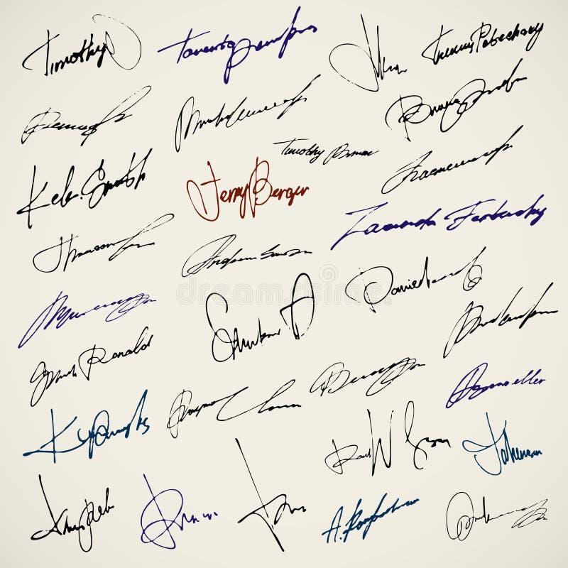 私有签名 皇族释放例证