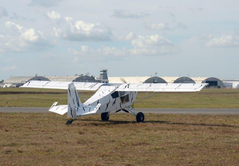 轻私有飞机乘出租车 库存图片