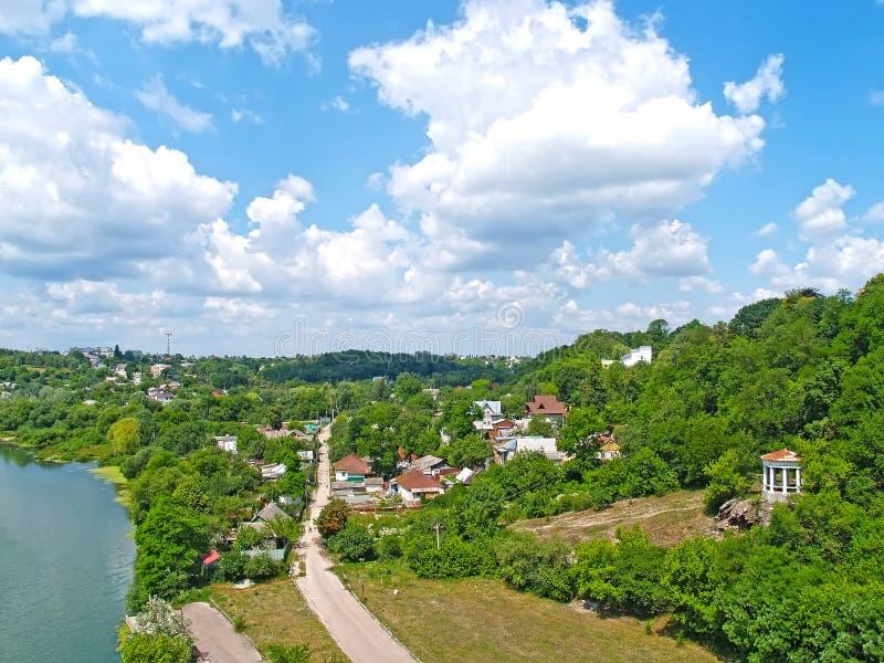 私营开发区的观点 日托米尔,乌克兰 免版税库存图片