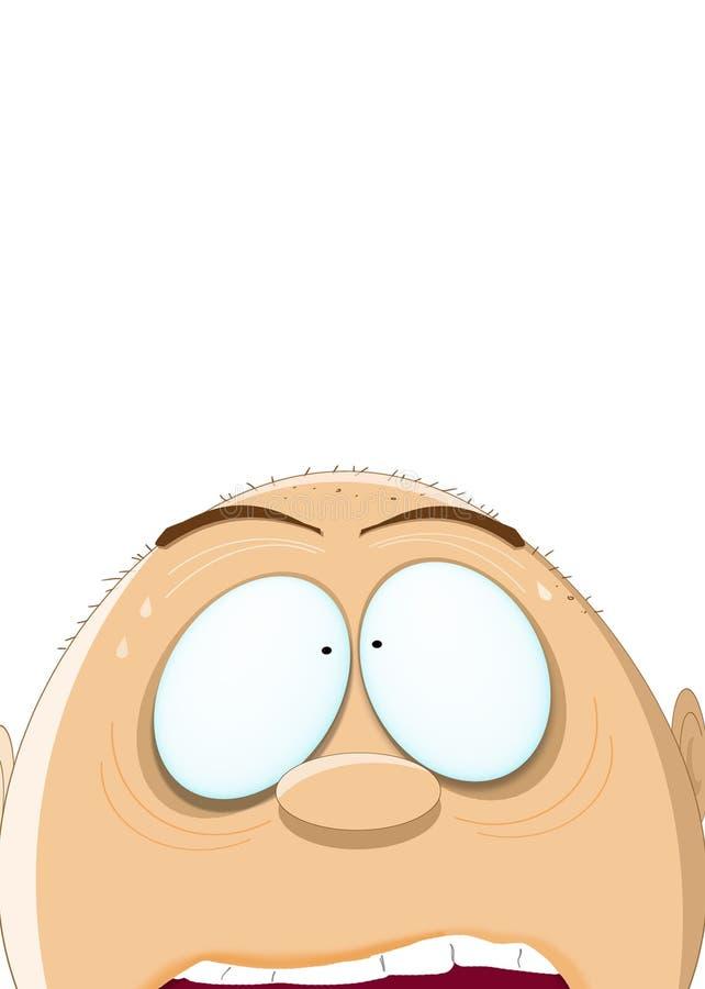 秃头供以人员头 向量例证