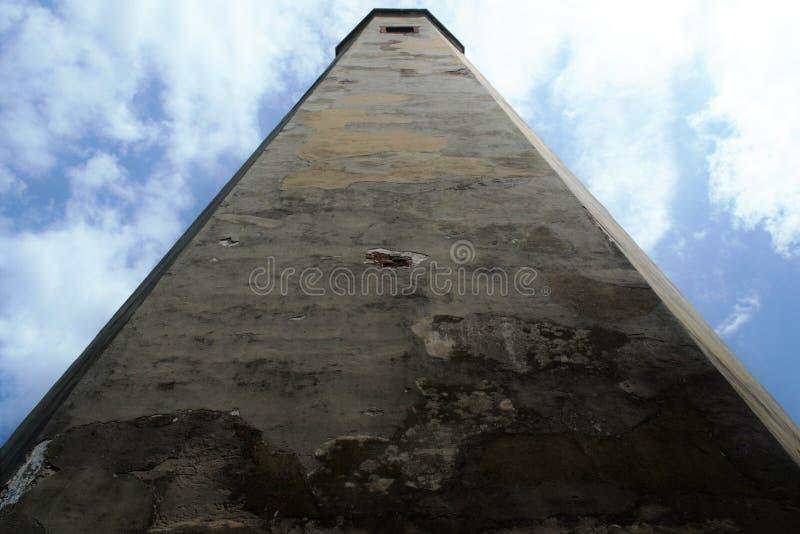 秃头海岛灯塔,北卡罗来纳,美国,风景取向 免版税库存照片