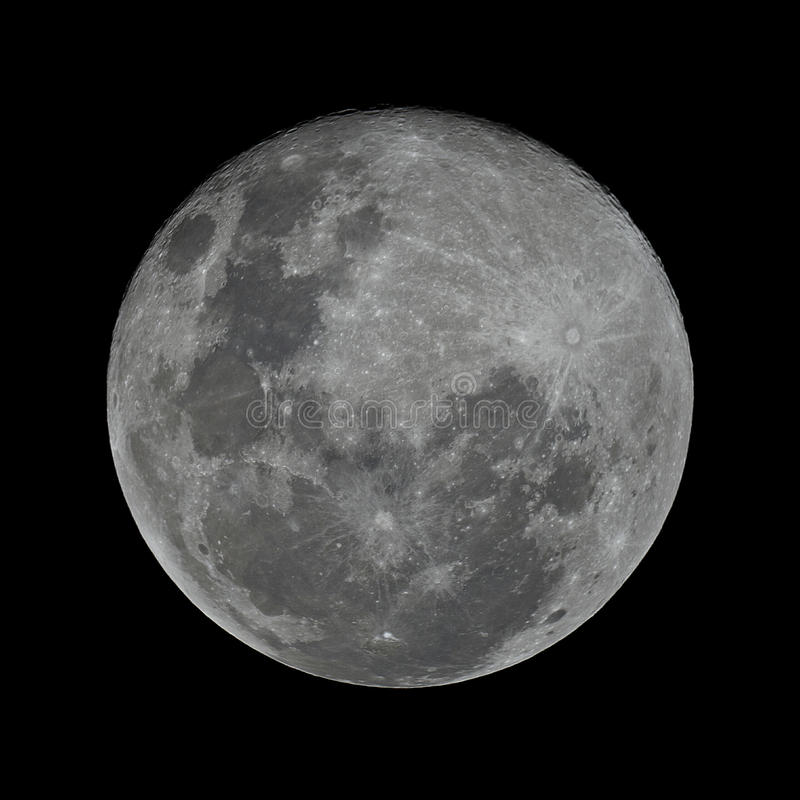秋分前后之满月 库存照片