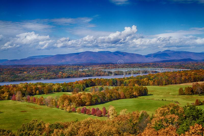 秋叶在Rhinebeck, NY 免版税图库摄影