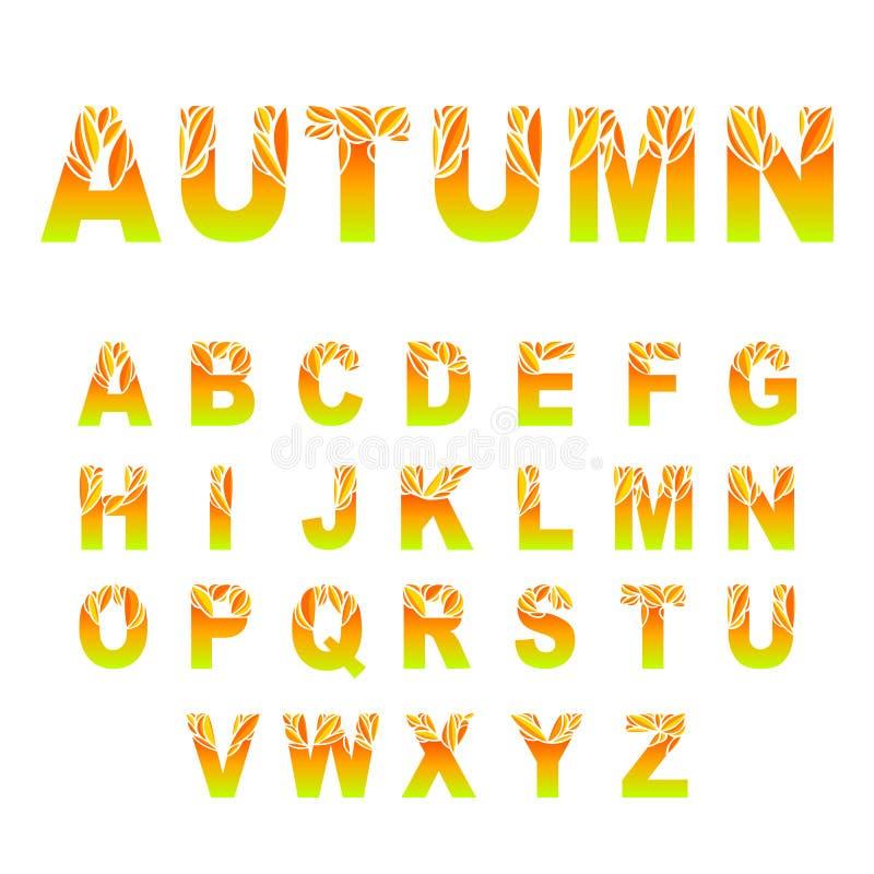 秋叶字体 向量例证