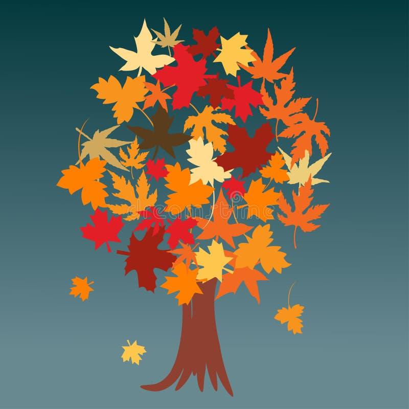 秋叶结构树 向量例证