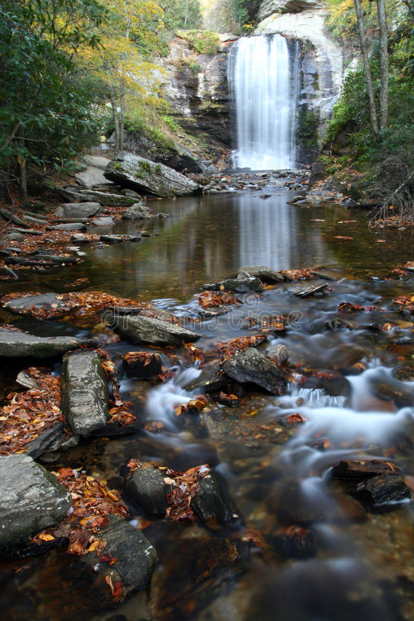 秋天下跌西部玻璃查找的nc的视图 图库摄影