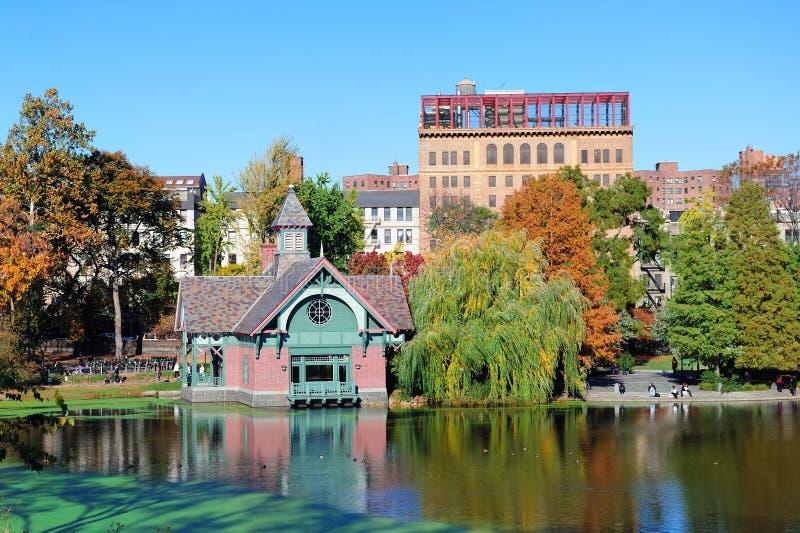 秋天中心城市新的公园约克 免版税图库摄影