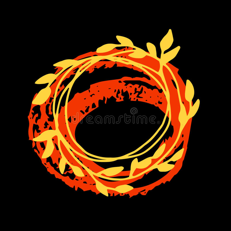 秋天五颜六色的叶子 向量 查出的叶子槭树 Grunge秋叶 皇族释放例证
