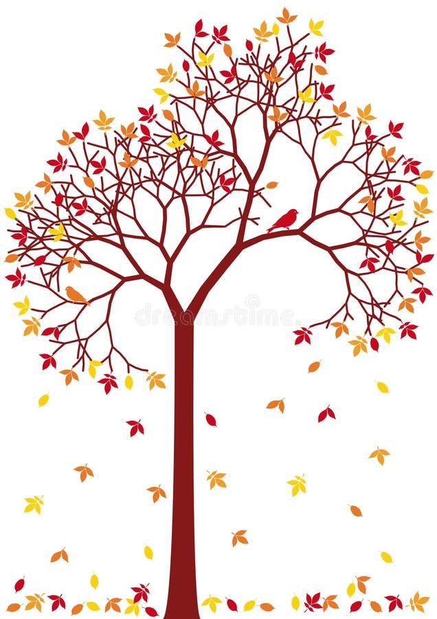 秋天五颜六色的结构树 向量例证