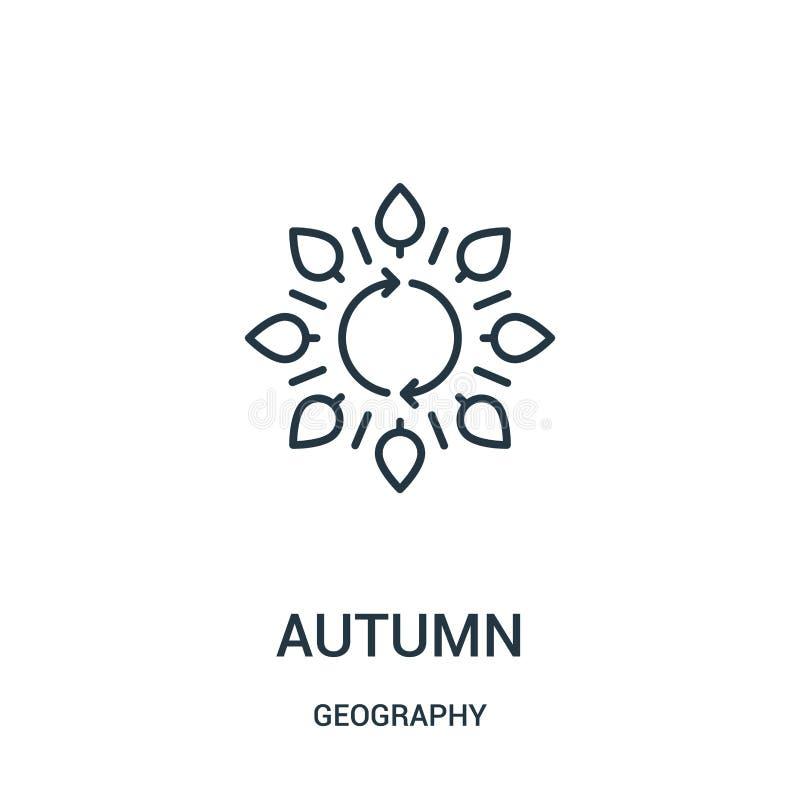 秋天从地理汇集的象传染媒介 稀薄的线秋天概述象传染媒介例证 向量例证
