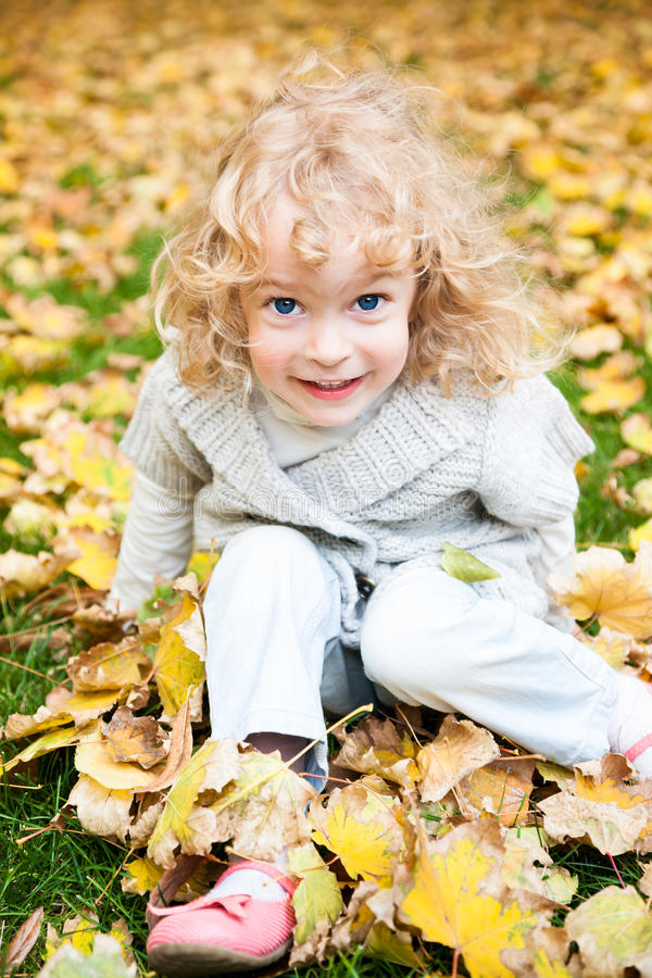 秋天儿童公园使用 库存照片