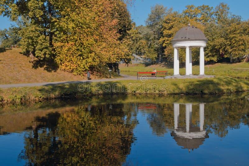 秋天公园在加里宁格勒(俄罗斯) 免版税库存图片