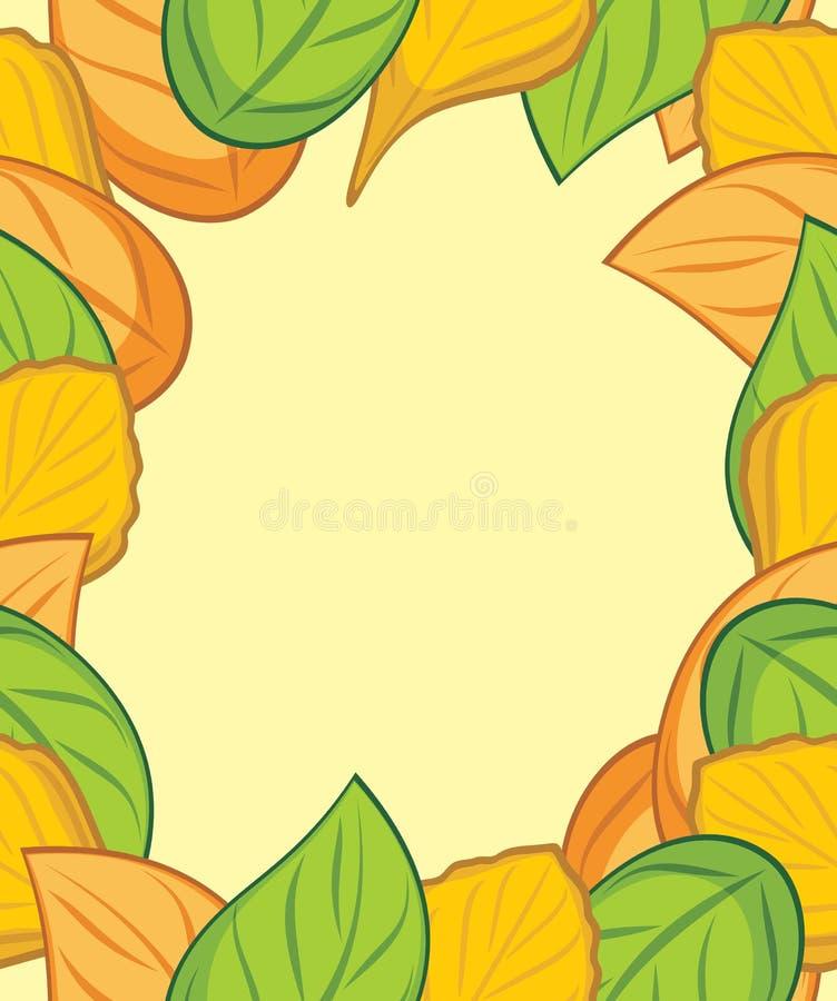 秋天叶茂盛框架 向量例证