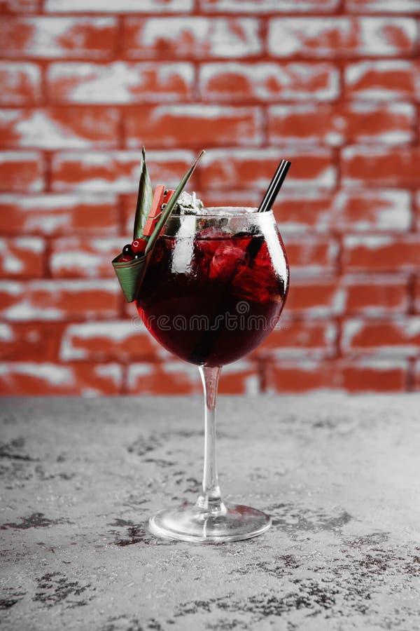 秋天和冬天桑格里酒用苹果,桔子,石榴 图库摄影