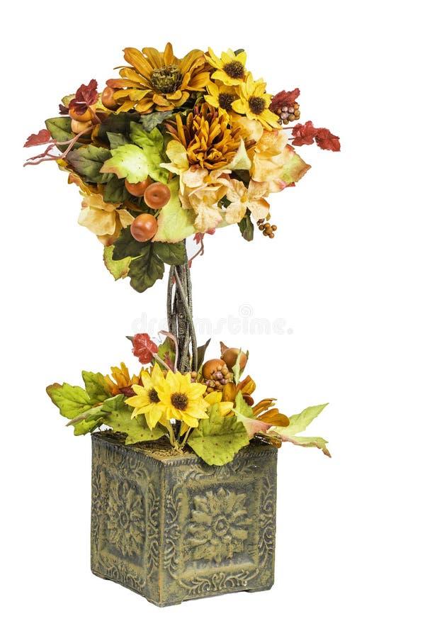 秋天和秋天色的花Arrangment 免版税库存图片