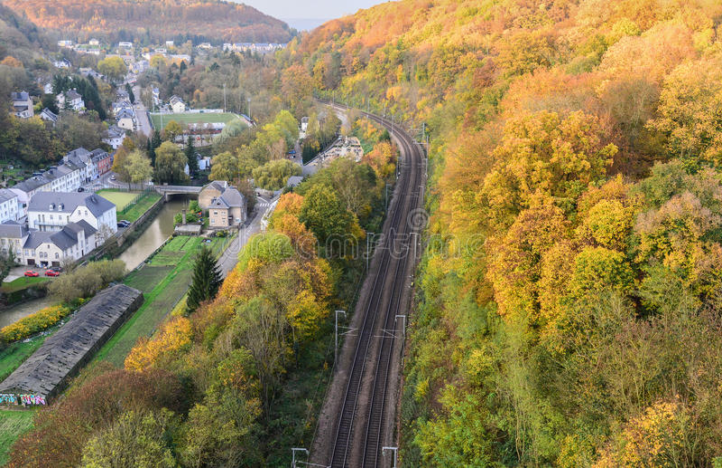 秋天在卢森堡 库存图片