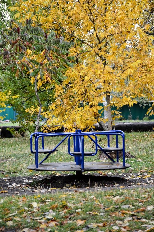 秋天在围场 库存图片