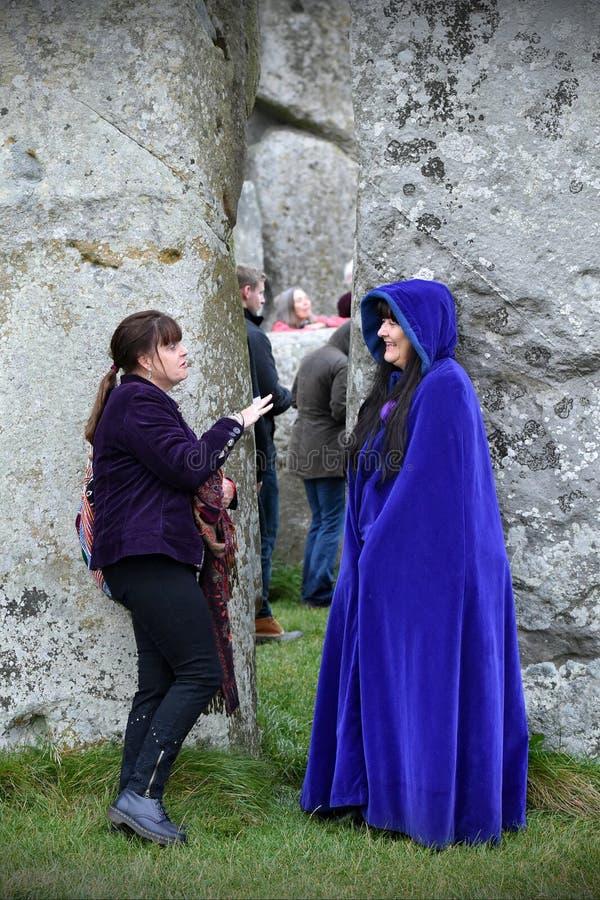 秋天在巨石阵的Equninox庆祝 图库摄影